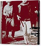 John Wayne And Robert Mitchum Publicity Photo El Dorado 1967 Old Tucson Arizona 1967-2012 Canvas Print