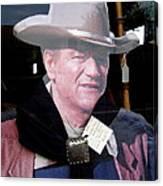 John Wayne Cardboard Cut-out In Store Window Tombstone  Arizona 2004 Canvas Print