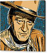 John Wayne Pop Art Canvas Print