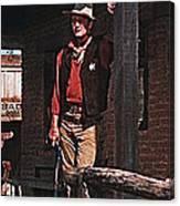 John Wayne Porch Of His Sheriff's Office Rio Bravo  Old Tucson Arizona 1959-2013 Canvas Print