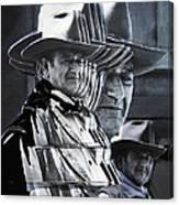 John Wayne Rio Lobo Collage Old Tucson Arizona 1970-2009 Canvas Print