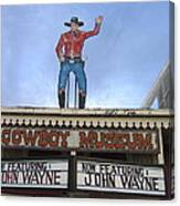 John Wayne Shuttered Cowboy Museum Close-up Tombstone Arizona 2004 Canvas Print