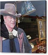 John Wayne Tall In The Saddle Homage 1944 Cardboard Cut-out  Tombstone Arizona 2004 Canvas Print