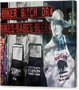John Wayne The Conqueror 1956 Cardboard Cut-out With Apron Cave Creek Arizona 2004 Canvas Print