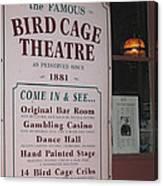 John Wayne's Filmography Bird Cage Theater Tombstone Az  2004 Canvas Print