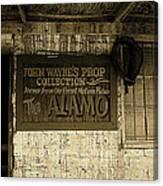 John Wayne's Prop Collection The Alamo Old Tucson Arizona 1967-2009 Canvas Print