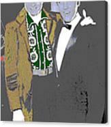 Johnny Cash  Elvis Presley Backstage Memphis Tn  Photographer Unknown  Canvas Print