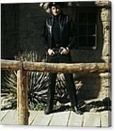 Johnny Cash Gunfighter Hitching Post Old Tucson Arizona 1971 Canvas Print