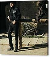Johnny Cash Horse Old Tucson Arizona 1971 Canvas Print
