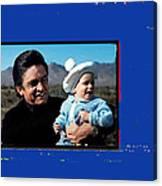 Johnny Cash John Carter Cash Old Tucson Arizona 1971 Canvas Print