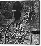 Johnny Cash  Meditating Wagon Wheel Graveyard Old Tucson Arizona 1971 Canvas Print
