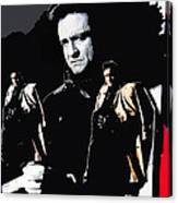 Johnny Cash Multiples  Trench Coat Sitting Collage 1971-2008 Canvas Print