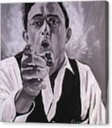 Johnny Cash Portrait Canvas Print