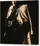 Johnny Cash Trench Coat  Sepia Variation Old Tucson Arizona 1971 Canvas Print