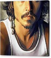 Johnny Depp Artwork Canvas Print