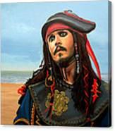 Johnny Depp As Jack Sparrow Canvas Print