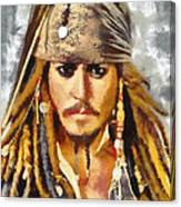 Johnny Depp Jack Sparrow Actor Canvas Print