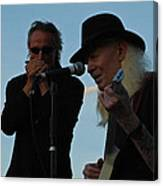 Johnny Winter And James Montgomery Playing The Blues Canvas Print