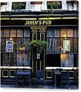 John''s Pub Canvas Print