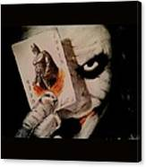 Joker And Batman Canvas Print