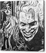 Joker And Harley Quinn  Canvas Print