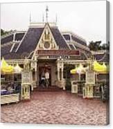Jolly Holiday Cafe Main Street Disneyland 02 Canvas Print