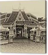 Jolly Holiday Cafe Main Street Disneyland Heirloom Canvas Print