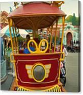 Jolly Trolley Disneyland Toon Town Canvas Print