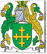 Jones Coat Of Arms Kildare Ireland  Canvas Print
