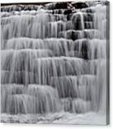Jones Mill Run Dam Up Close 2 Canvas Print