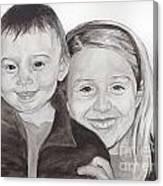 Jordan And Chey Chey Canvas Print