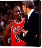 Jordan And Coach Canvas Print