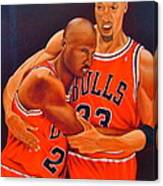 Jordan And Pippen Canvas Print