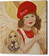 Joscelyn And Jolly Little Angel Of Playfulness Canvas Print