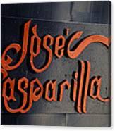 Jose Gasparilla Name Plate Color Canvas Print