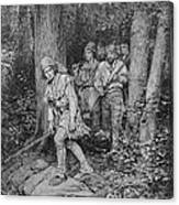 Joseph Brown Leading His Company To Nicojack, The Stronghold Of The Chickamaugas, Engraved Canvas Print