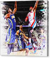 Josh Smith Of The Detroit Pistons Canvas Print