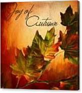 Joy Of Autumn Canvas Print