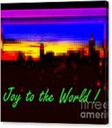 Joy To The World - Empire State Christmas And Holiday Card Canvas Print