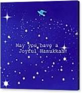 Joyful Hanukkah Card  Canvas Print