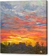 Joyful Sunset Canvas Print