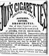Joys Cigarettes, 1884 Canvas Print