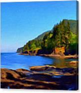 Juan De Fuca Shoreline Canvas Print