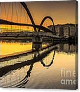 Jubia Bridge Naron Galicia Spain Canvas Print