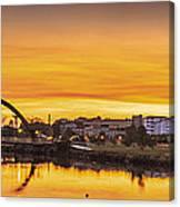 Jubia Bridge Panorama Neda Naron Galicia Spain Canvas Print