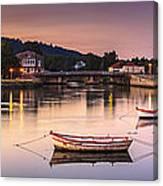 Jubia River Panorama Neda Naron Galicia Spain Canvas Print