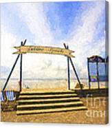 Jubilee Beach Southend On Sea Canvas Print