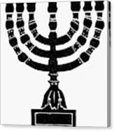 Judaism Candelabra Canvas Print
