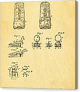 Judson Zipper Patent Art 1893 Canvas Print
