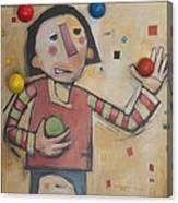 Juggler With Balls  Canvas Print